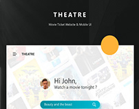 THEATRE - FREE MOBILE APP & WEBSITE UI