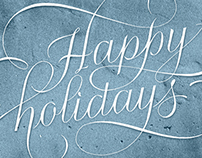 Happy Holidays - Lettering