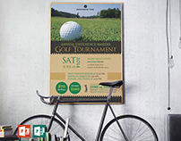Charity Golf Tournament Poster PowerPoint Publisher Te