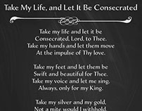 Take My Life Hymn Poster 2017