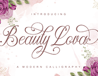 Beauty Lova - Free Calligraphy Font