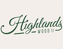 Highlands Wood Co Logo Design