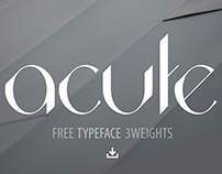 Acute, the Typeface