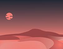 Desert Scene.