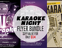 Karaoke Night Flyer Template Bundle