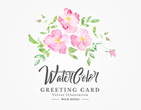 Wild Roses: Watercolor Romantic Collection