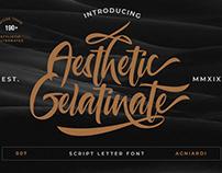 Freebies   Aesthetic Gelatinate Script Font