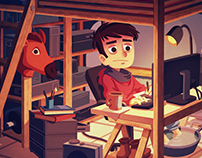 Winter workstation animated gif