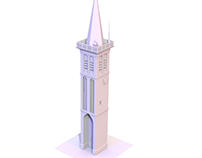 3DS Max: modeling a Churchtower