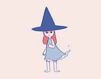 Wavey witch (GIF)