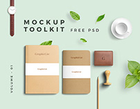 Free Mockup Toolkit Vol. 1