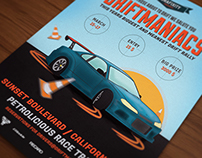Driftmaniacs Car poster / flyer