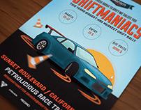 Driftmaniacs Car poster / flyer