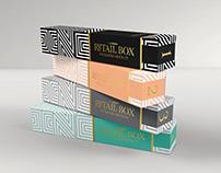 Mockup Template: Narrow Cosmetic/Perfume Box Packaging