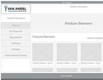 VAEI Storefront Prototype Wireframes and Moodboard