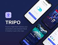 TRIPO — Travelling App / Booking / Dark UI