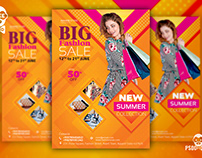 Fashion Sale Flyer + Social Media Free PSD Template