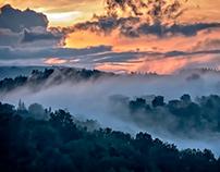 landscape in a fog