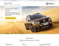 Artes e layouts desenvolvidos para a Renault Brasil