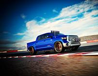 3D Scene - Toyota Tundra, Racetrack