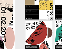 Poster design for school open day and graduation show