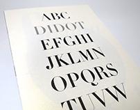 Didot Type Book