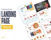 Food Landing Page Folio - Vol 2
