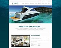 Yacht Management - Website Design
