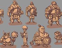 Fantasy World Characters Design