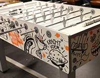 Foosballtable for Clockwork