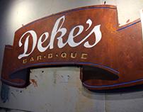 Deke's BBQ urethane outdoor signage