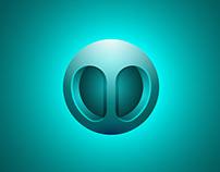 3D Blue Abstract Logo