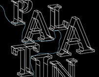 Palatino Typeface Poster