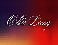 Ollie Lang personal site and Branding