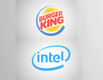 intel Logo Animation and Burger King Animation