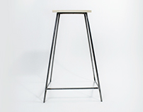 Wood & Steel Bar Stool