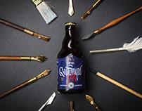 Craft Beer Label Design - Quadrupel IPA