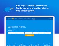 Сoncept for New Zealand site