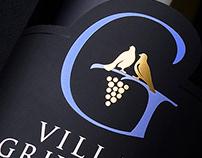 Villa Grivitsa wine label design by the Labelmaker
