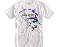 Mockup Fishing Love T-Shirt Designs
