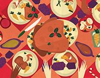 Illustrated Christmas Dinners - Worldwide