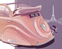 PEUGEOT 202 illustration (1938)