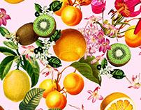 Botanic fruit pattern