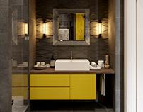 Interior bathroom in Loft