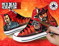 RED DEAD REDEMPTION 2: CONVERSE SNEAKER CUSTOM