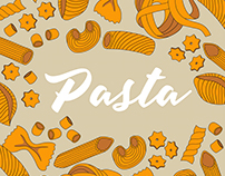 Italian pasta collection - illustration set