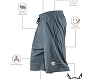 KASK SHORTS 160 INFOGRAPHIC