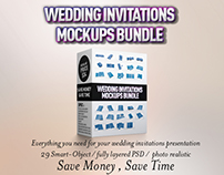Wedding Invitations Mockups Bundle