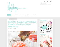 May Designs Blog Redesign