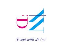 "Logo - ""呟"" Tweet"